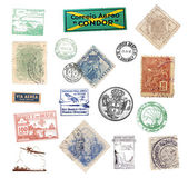 Postage vintage stamps and labels from Brazil — Stock Photo