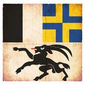 Grunge flag of Grisons (Switzerland) — Stock Photo