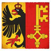 Bandera de grunge de ginebra (suiza) — Foto de Stock