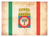 Bandiera del grunge della puglia (italia) — Foto Stock