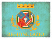 Grunge flag of Latium (Italy) — Stock Photo