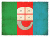 Grunge flag of Liguria (Italy) — Stock Photo