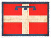 Bandiera del grunge del piemonte (italia) — Foto Stock
