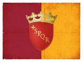 Grunge flag of Rome (Italy) — Stok fotoğraf
