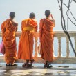 Buddhist Monks in orange — Stock Photo