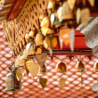 Stock Photo: Heart bells at Buddhist temple