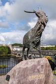 An Puc Ri, bronze statue of King Puck in Killorglin — Stock Photo