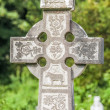 Old Irish cemetery cross — Stock Photo