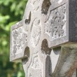 Stock Photo: Old Irish cemetery cross