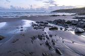 Stones on the beach in bad weather — Zdjęcie stockowe