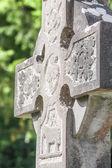 Old Irish cemetery cross — Stok fotoğraf