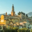 Church and old town of Menton — Stock Photo #49120371