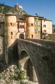 Town gate and bridge of Entrevaux — Stock Photo