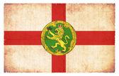 Grunge flag of Alderney (Channel Islands, GB) — Stock Photo