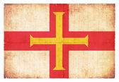 Grunge flag of Guernsey (Channel Islands, GB) — Stock Photo