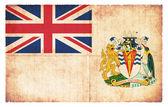 Grunge flag of British Antarctic Territory (Great Britain) — Stock Photo