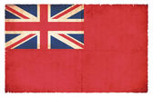 Red Ensign flag (merchant flag) of Great Britain  — Stock Photo