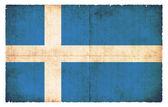 Bandeira do grunge das ilhas shetland (grã-bretanha) — Foto Stock