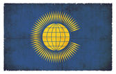 Grunge flag of Commonwealth of Nations (Great Britain) — Stock Photo