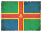 Grunge flag of Lincolnshire (Great Britain) — Stock Photo