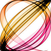 Weave of transparent colorful band — Stock Photo