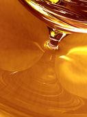 Gouden biologische honing — Stockfoto