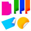 Colorful papers set — Stock Vector #41314069