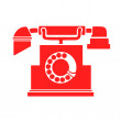 Vintage telephone — Stock Vector #41316299