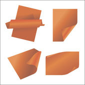 Vector set of orange paper — Stockvector