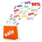 Verkauf-satz — Stockvektor