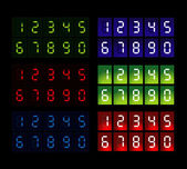 Set of six led digits — Stock Vector
