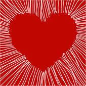 Corazón de amor — Vector de stock