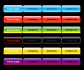 Web navigation set — Stock Vector
