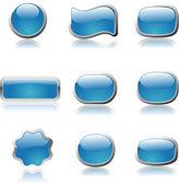 Blue button — Stock Vector
