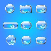 Blå knappar — Stockvektor