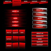 Color web menu buttons — Stock Vector