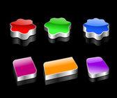 Botões de cor — Vetorial Stock