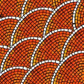 Orange mosaic — Stock Vector
