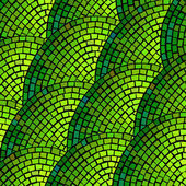 Green mosaic — Stock Vector