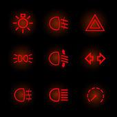 Car pictograms — Stock Vector