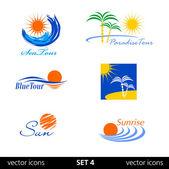 Summer vector icon — Stock Vector