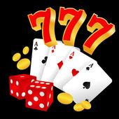 Casino icon — Stock Vector