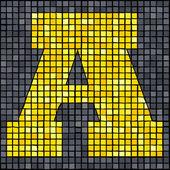 Mosaik brev镶嵌封信 — Stockvektor