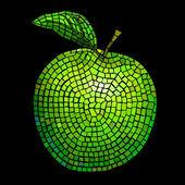 Mosaic apple — Stock Vector
