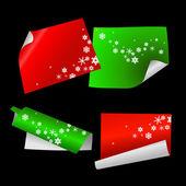 クリスマス カラー ペーパー — ストックベクタ
