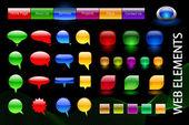 Fun colored web elements — Vetorial Stock