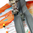 Sewing on a zipper — Stock Photo