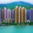Stock Photo: Hong Kong skyscrapers near sea