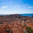 Sunbeams over Dubrovnik — Stock Photo