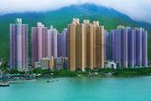 Hong Kong skyscrapers near the sea — Stock Photo